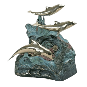 Playing Dolphins Cremation Urn