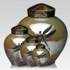 Dragonfly Raku Cremation Urns