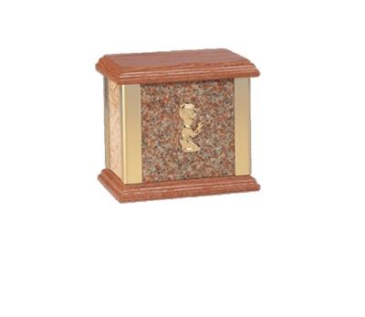Dream Vermilion Child Marble Cremation Urn