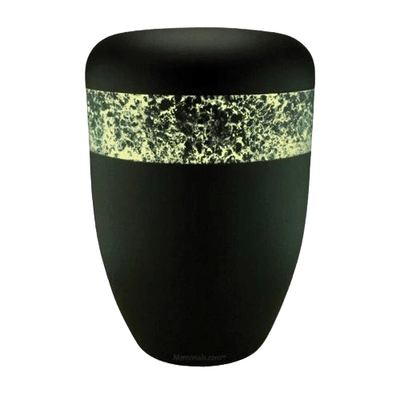 Dreamers Black Silver Biodegradable Urn