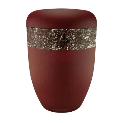 Scarlet Brown Biodegradable Urn