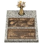 Double Deep Bronze Expression Double Grave Marker III