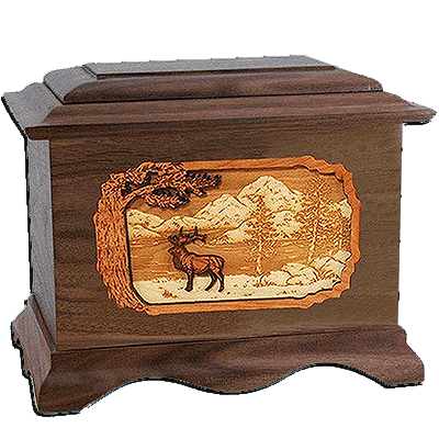 Elk Walnut Cremation Urn For Two
