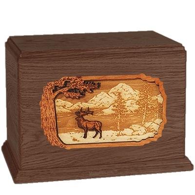Elk Walnut Companion Urn