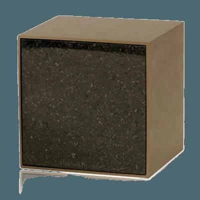 Expressionism Cambrian Black Granite Cremation Urn