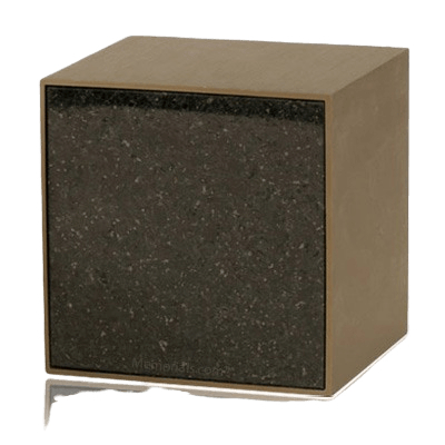Expressionism Cambrian Black Granite Cremation Urn