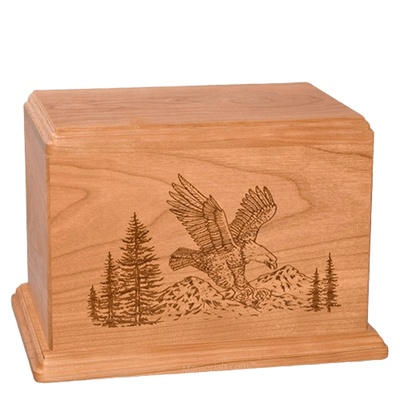 Eagle Companion Cherry Wood Urn