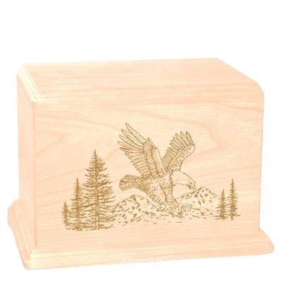 Eagle Companion Maple Wood Urn