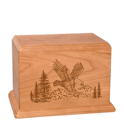 Eagle Individual Cherry Wood Urn
