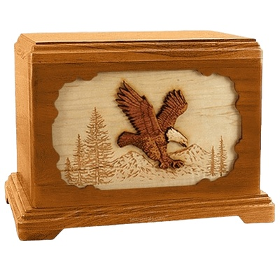 Eagle Mahogany Hampton Cremation Urn