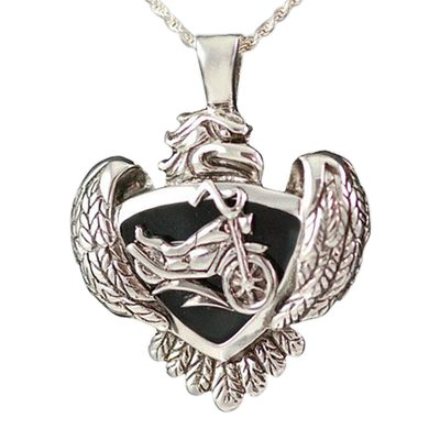 Eagle with Motorcycle Keepsake Jewelry III