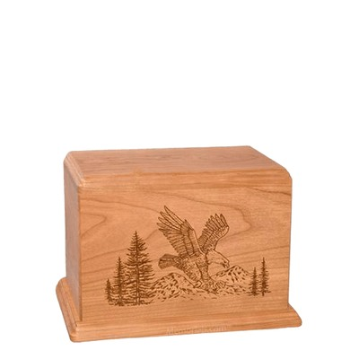 Eagle Small Cherry Wood Urn