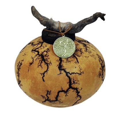 Earthen Gourd Biodegradable Urn