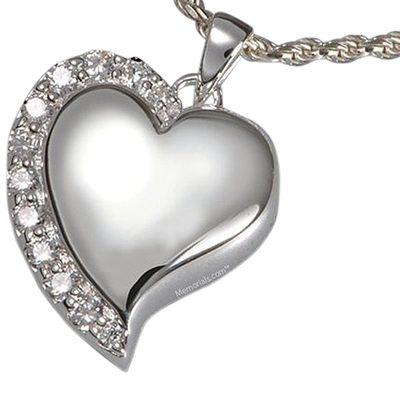 Elegant Heart Cremation Pendant III