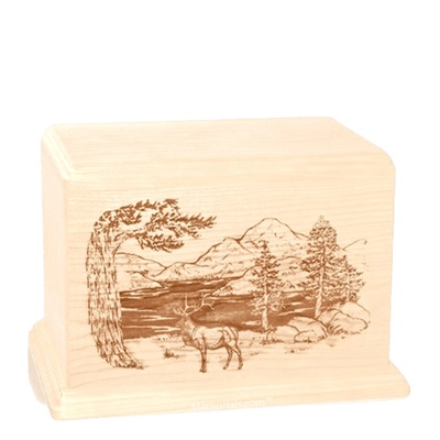 Elk Individual Maple Wood Urn