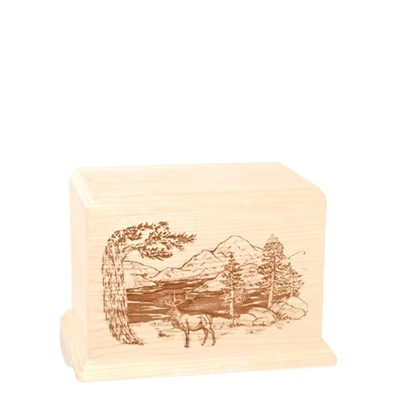 Elk Small Maple Wood Urn