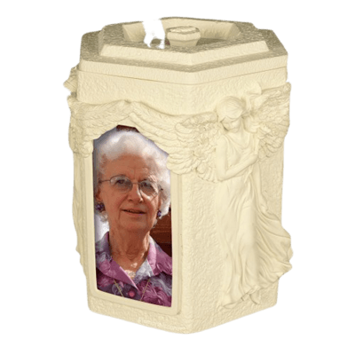 Embraced by Angels Cremation Urn
