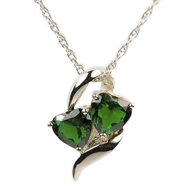 Emerald Hearts Cremation Jewelry III