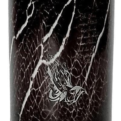 Burgundy Pop Glass Cremation Urn