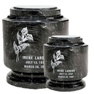 Estate Black Marble Cremation Urns
