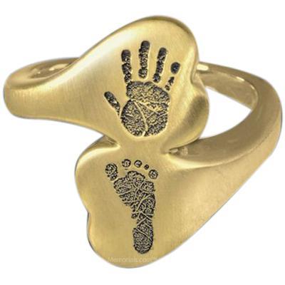 Eternal 14k Gold Cremation Print Ring