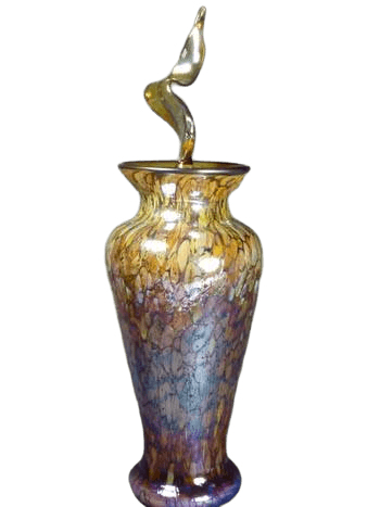 Eternal Flame Copper Glass Urn