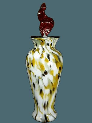 Eternal Flame Marbled Glass Urn