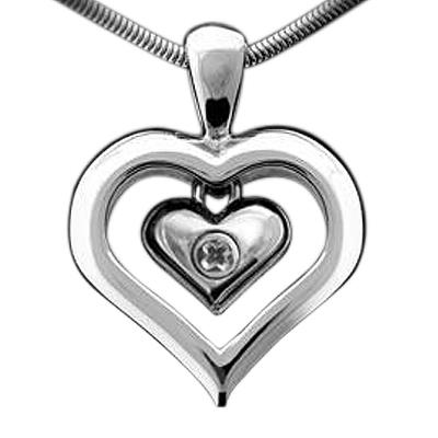 Eternal Heart Keepsake Pendant