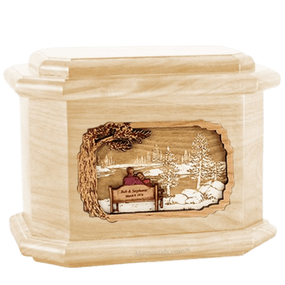 Eternally Maple Octagon Cremation Urn