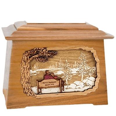 Eternally Oak Aristocrat Cremation Urn