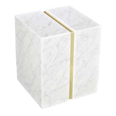 Eternitas Bianco Carrera Marble Companion Urn