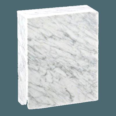 Eternitas Bianco Carrera Marble Urn