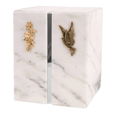 Eternitas Silver White Danby Companion Urn
