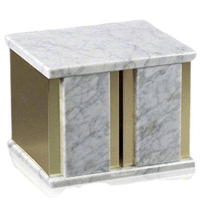 Ethinity Bianco Marble Companion Urn