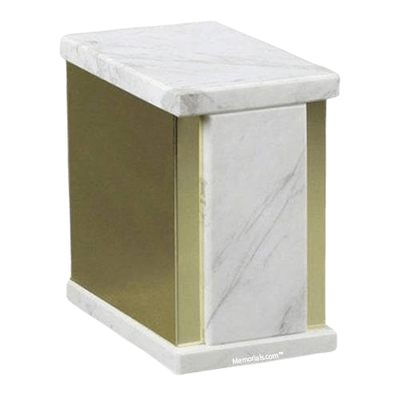 Ethinity Bianco Marble Cremation Urn