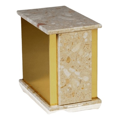 Ethinity Perlato Marble Cremation Urn