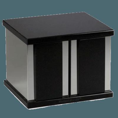 Ethinity Silver Nero Granite Companion Urn