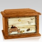 Evermore Mahogany Memory Chest Cremation Urn