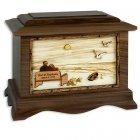 Evermore Oak Memory Chest Cremation Urn