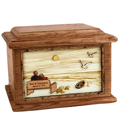Evermore Walnut Memory Chest Cremation Urn