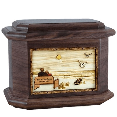 Evermore Walnut Octagon Cremation Urn