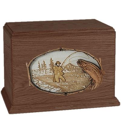 Fisherman Walnut Companion Urn