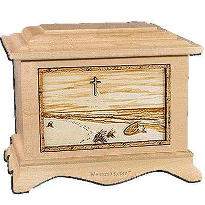 Footprints Maple Cremation Urn for Two
