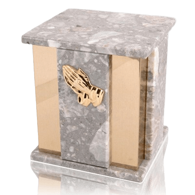 Foresta Grey Stone Marble Cremation Urns