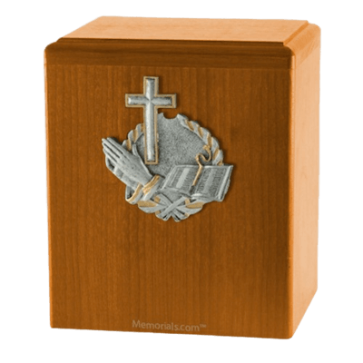 Faith Oak Cremation Urn