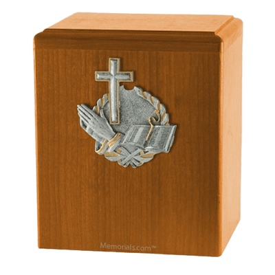 Faith Oak Cremation Urn