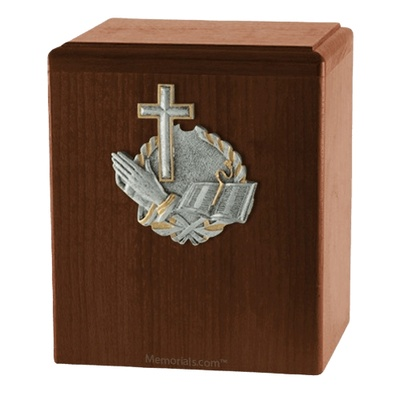 Faith Walnut Cremation Urn