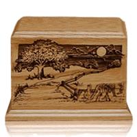 Farm Road Walnut Wood Urn