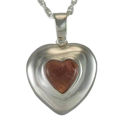 February Cremation Heart Pendant