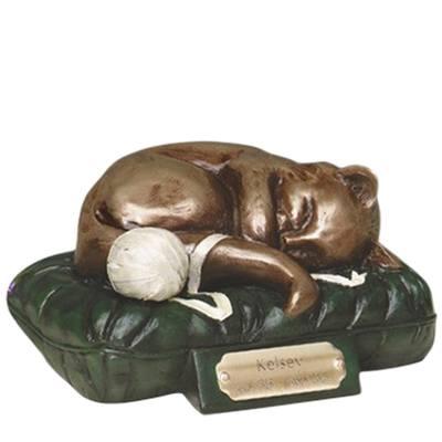 Feline Dreams Green Cremation Urn